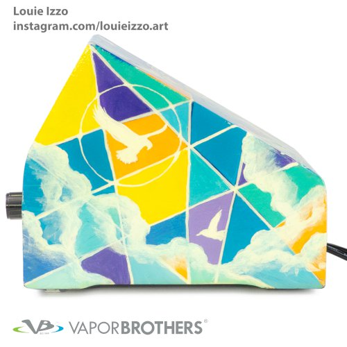 [SOLD] LOUIE IZZO Art Vaporbrothers Vaporizer - Hands Free - 120V - 8040-LOUIEIZZO-ART
